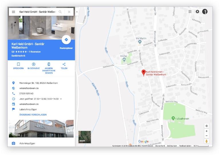 Google My Business Ihre Daten aktuell bei Google